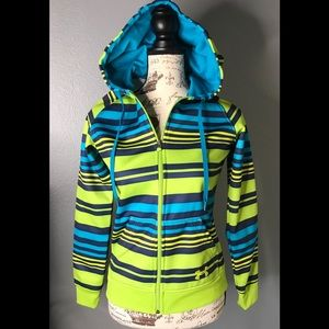 Under Armour Full Zip Jacket size XS Neon